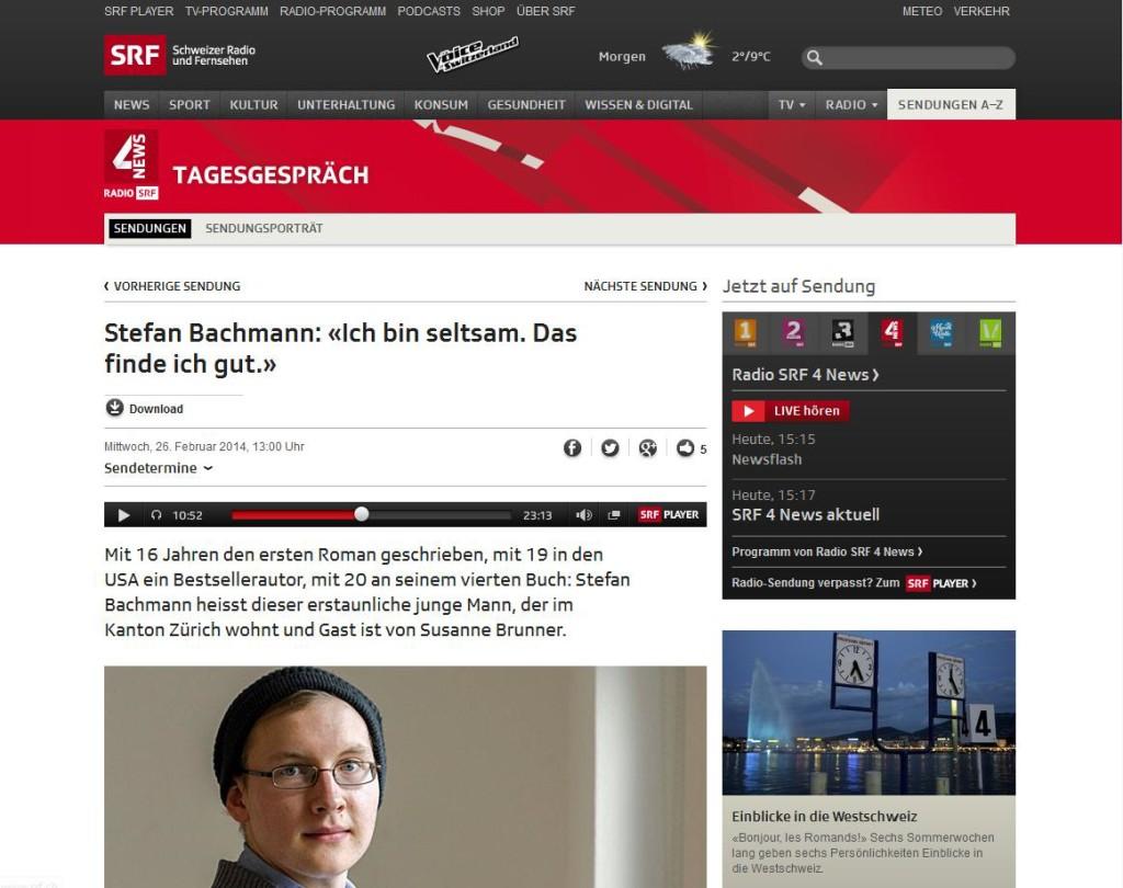 Stefan Bachmann spricht auf SRF, Homeschool News, Bernice und Jan Zieba
