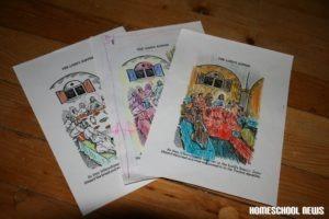 Hoher Donnerstag, Malblätter, Homeschool News, Jan und Bernice Zieba