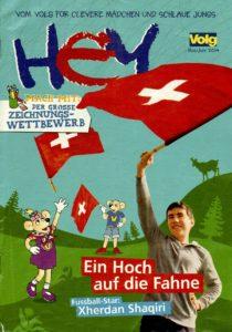 Homeschooler als Fahnenschwinger, Volg-Heft, Homeschool News, Jan, Bernice, Zieba