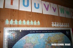 Tannenbäume und Schneemänner, Papierketten