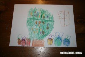 Weihnachtsbaum, Kinderzeichnung