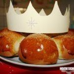 Dreikönigskuchen mit Krone, Dreikönigstag, Epiphanie