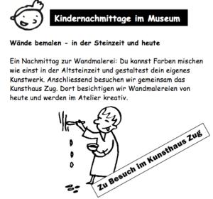 Kindernachmittag, Museum für Urgeschichte(n), Zu Besuch im Kunsthaus