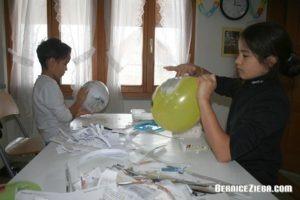 Fasttnachtsmasken aus Papiermaché,