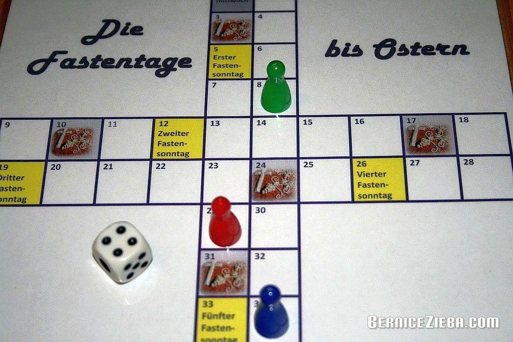 """Leiterspiel und Vorlage """"Die Fastenzeit bis Ostern"""""""