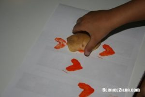 Kartoffelstempel, potato printing