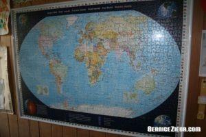 Weltkarte-Puzzle, World Map Puzzle