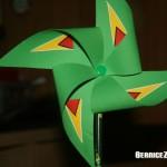 Windmühle aus Papier basteln