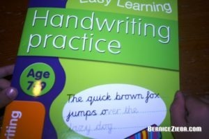 Handwriting Pracitce, 7-9 year olds