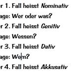 "Arbeitsblatt ""Die vier Fälle"""