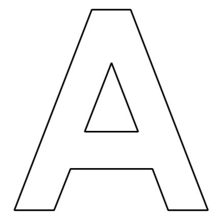 Buchstaben des Alphabets zum Ausdrucken