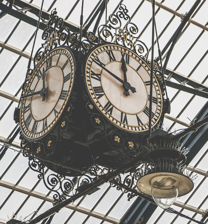 Old station clock, Bits of Thought, Bernice Zieba