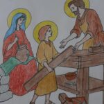 St Joseph Colouring Sheet, Bernice Zieba