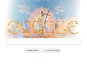 Google Doodle with Jesus, Bernice Zieba