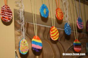 Salzteig-Ostereier / Salt Dough Easter Eggs