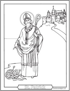 Saint Patrick Colouring Sheet