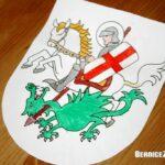 St George Craft Shield, St. Georg Schild-Bastelarbeit, Bernice Zieba