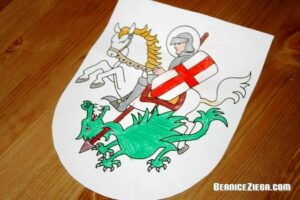 St George Craft Shield, St. Georg Schild-Bastelarbeit, Bernice Zieba